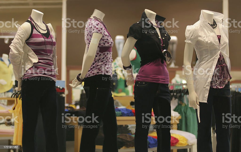 Casual Clothing Store Mannequins stock photo
