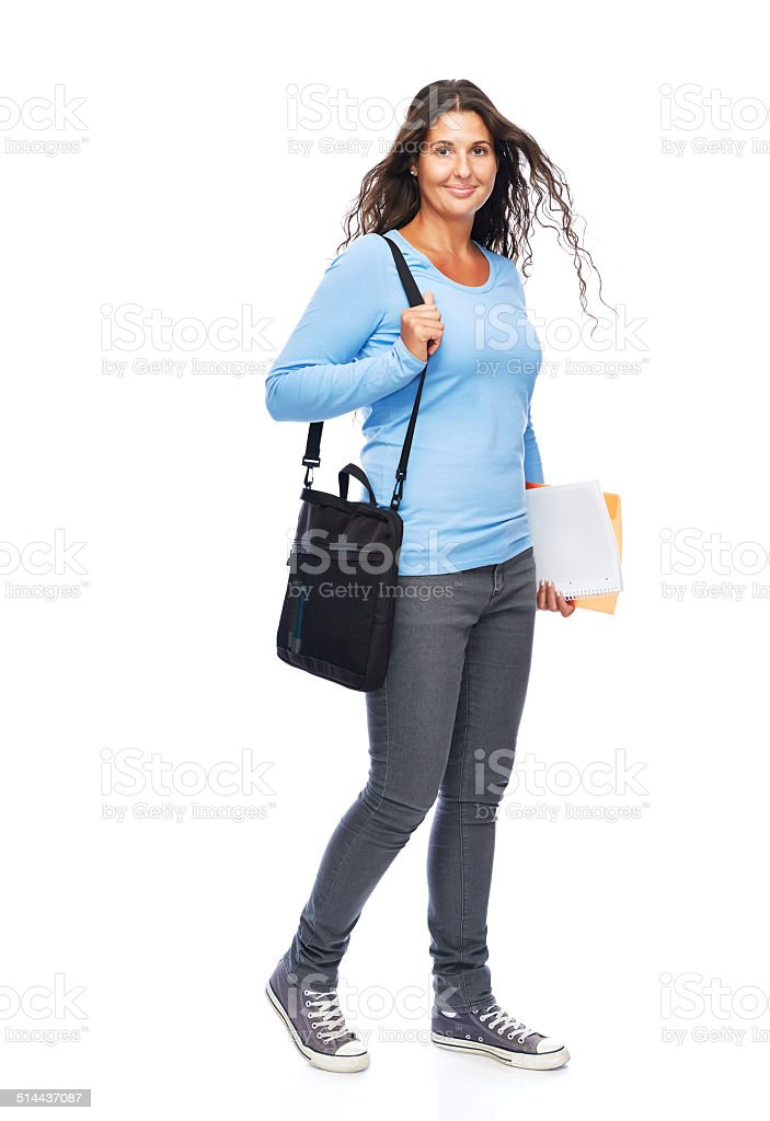 9656f3217a80 Casual Da College Studente Sorridente - Fotografie stock e altre ...
