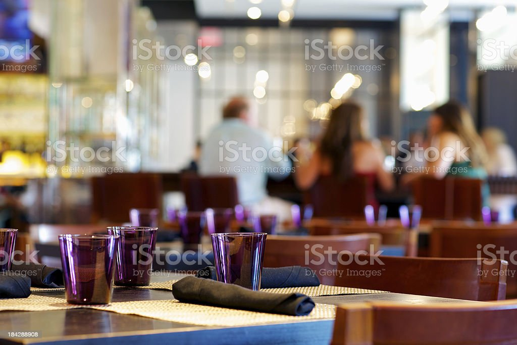 Casual dining in Upscale American restaurant royalty-free stock photo