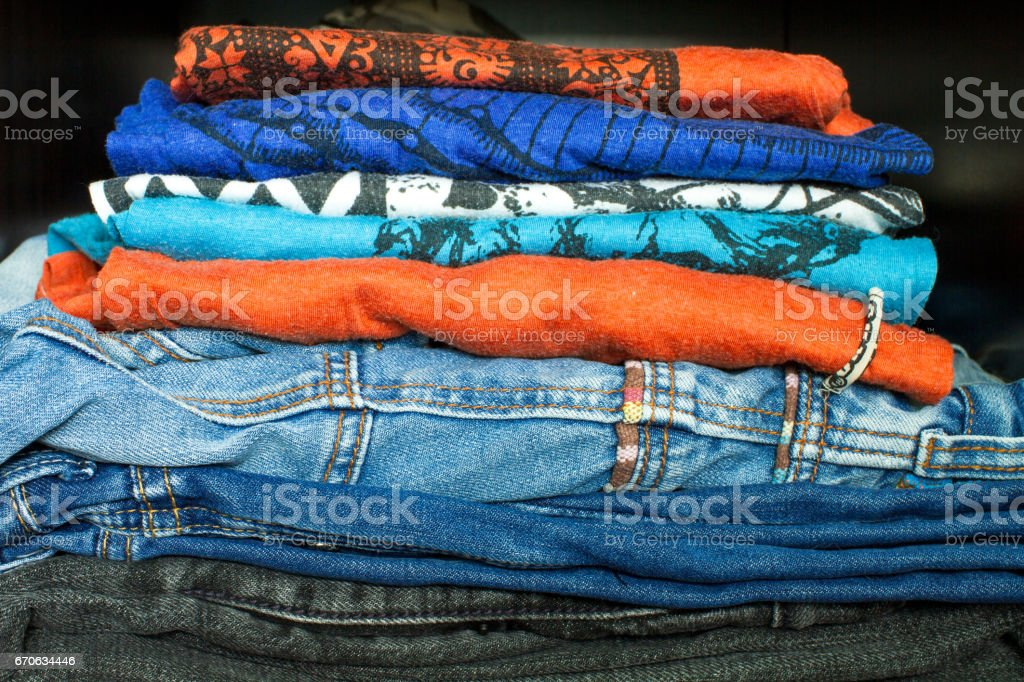 Casual Dress In The Closet stock photo