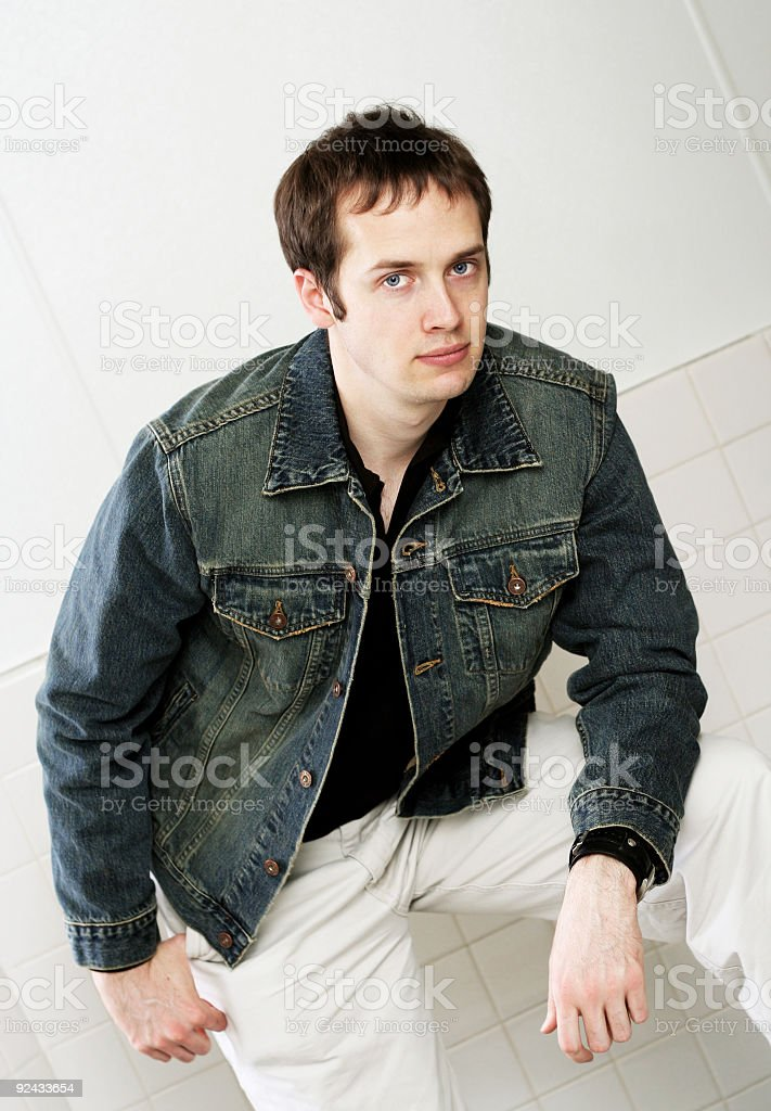 Casual Dressed College Guy royalty-free stock photo