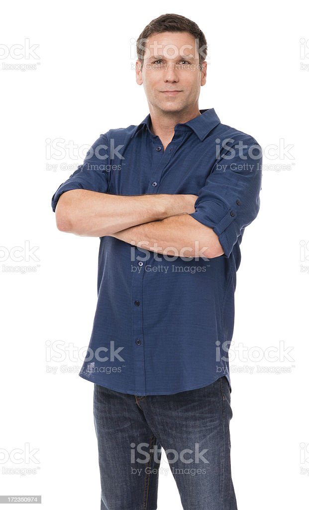Vestido Hombre Casual aislado sobre fondo blanco foto de stock libre de derechos