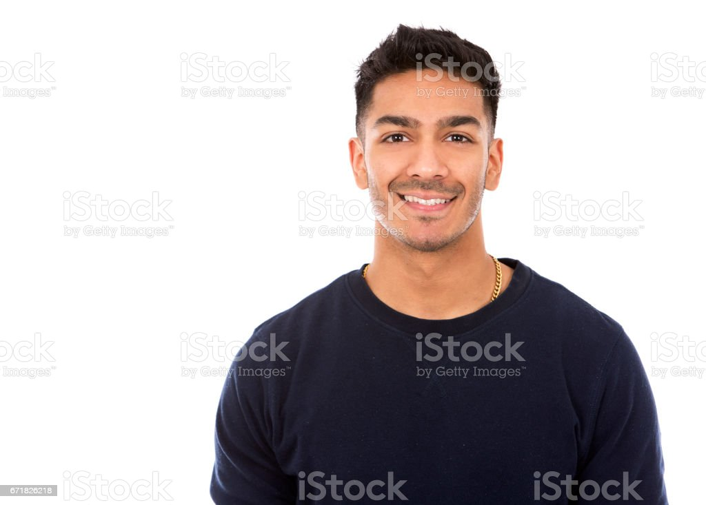 casual east asian man on white isolated background foto de stock libre de derechos