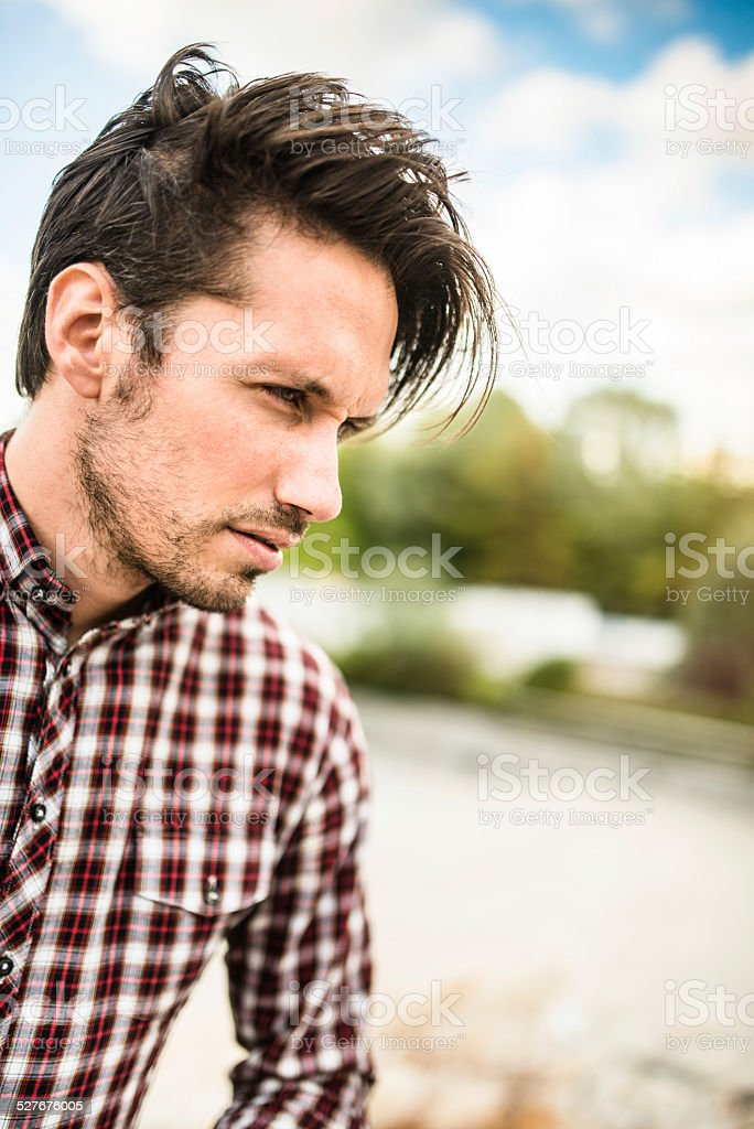 casual fashion model posing stock photo