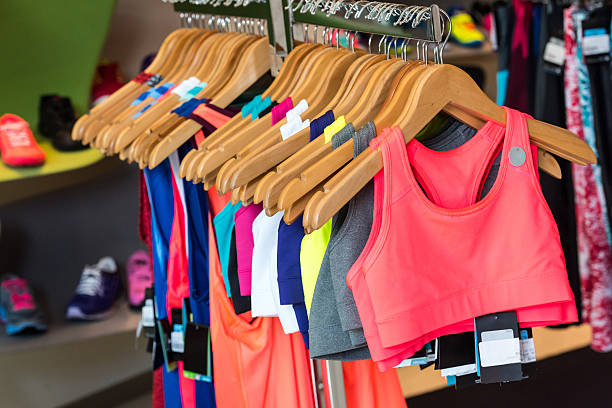 Casual female sport clothes for sale stock photo