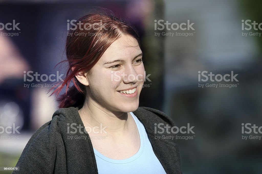 Casual girl outdoors - Royalty-free Anthropomorphic Stock Photo