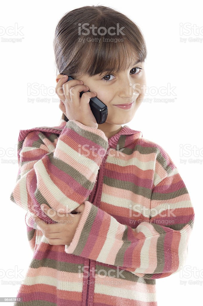 casual girl talking on the cellphone royalty-free stock photo