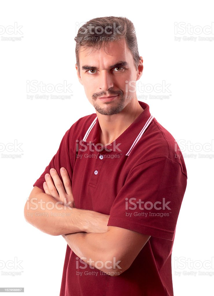 Casual Guy - Arms Crossed royalty-free stock photo