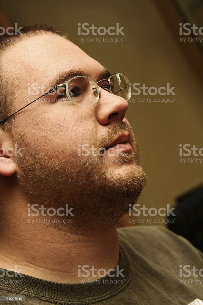 Casual Guy in Glasses royalty-free stock photo