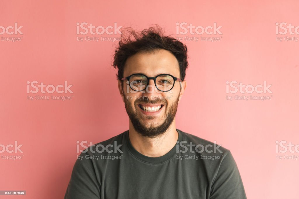 Casual guy stock photo