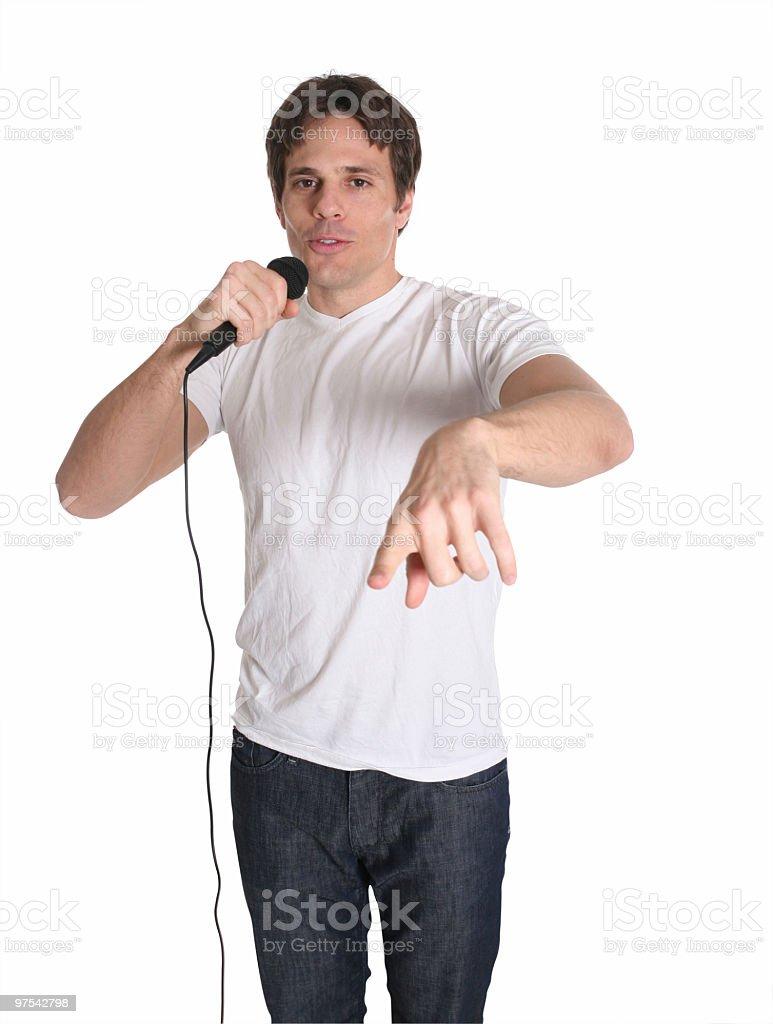 Casual guy singing royalty-free stock photo