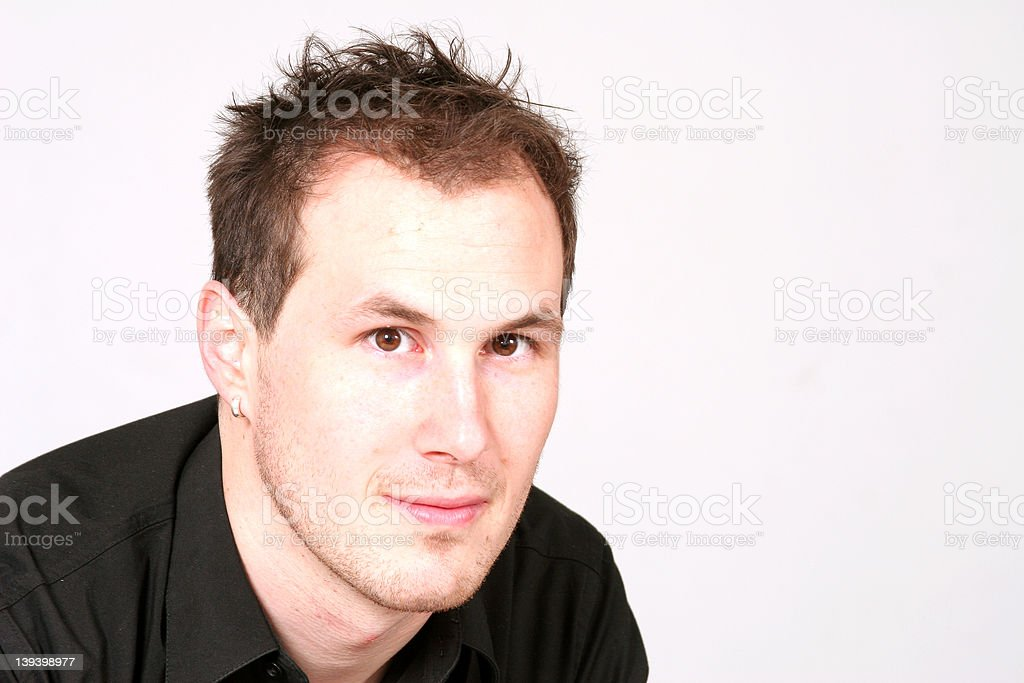 Casual headshot of a handsome man royalty-free stock photo