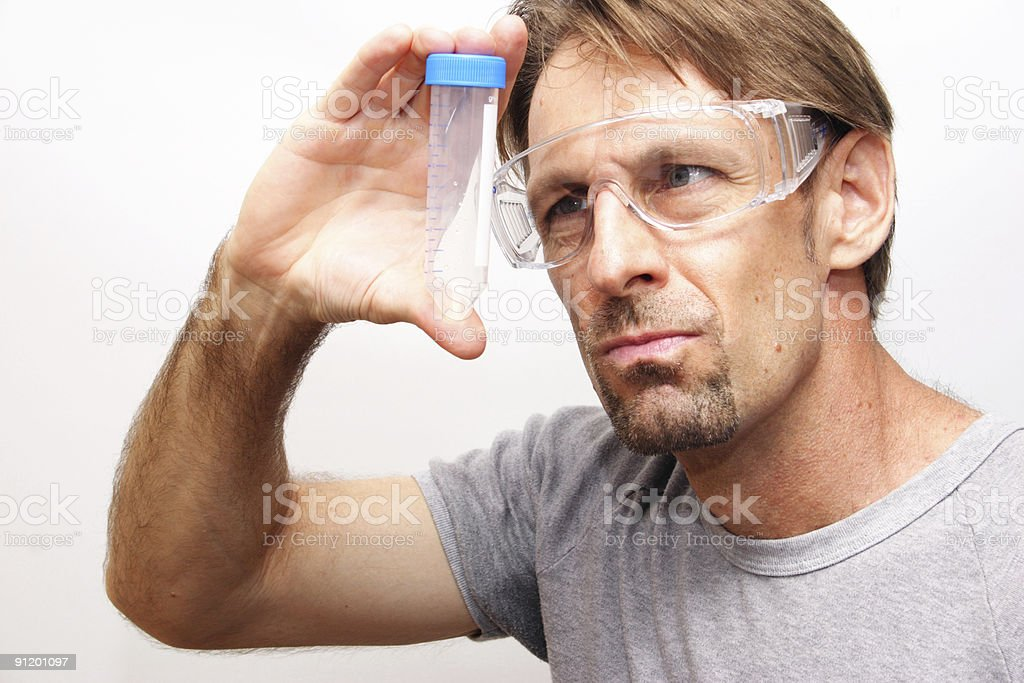 casual lab guy royalty-free stock photo