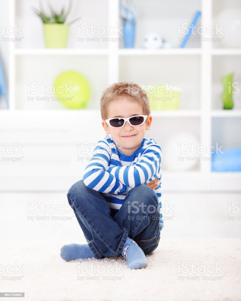 Casual little boy royalty-free stock photo