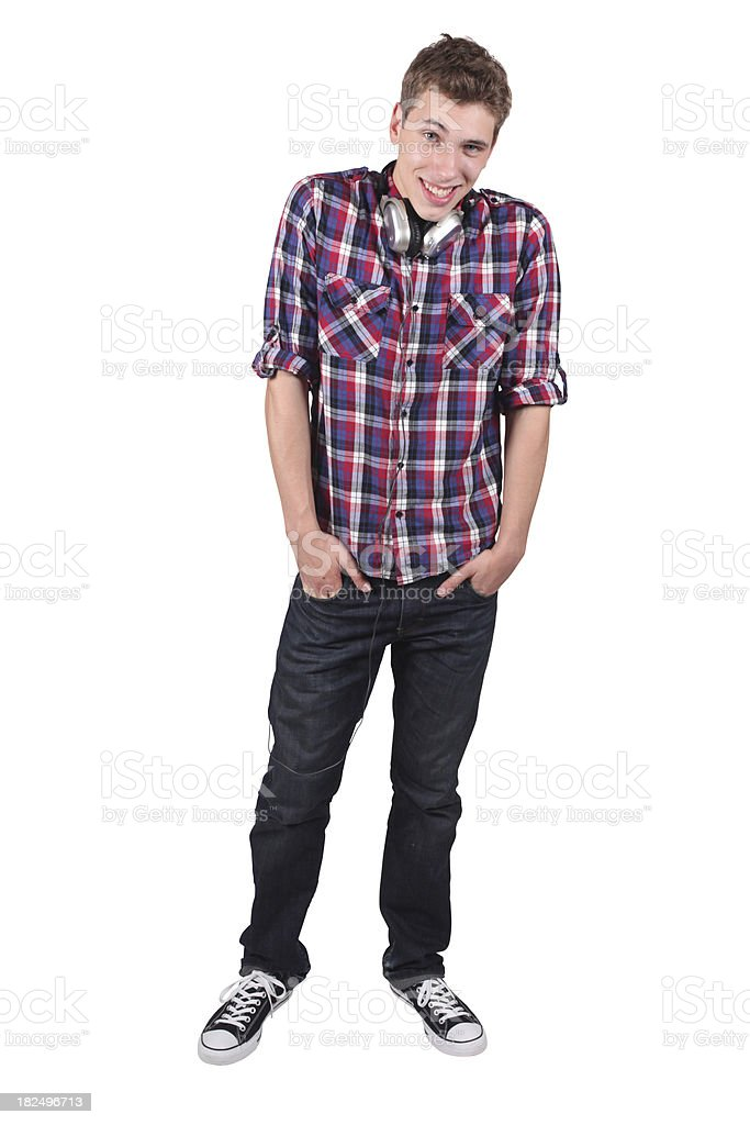 Casual male hands in pockets royalty-free stock photo