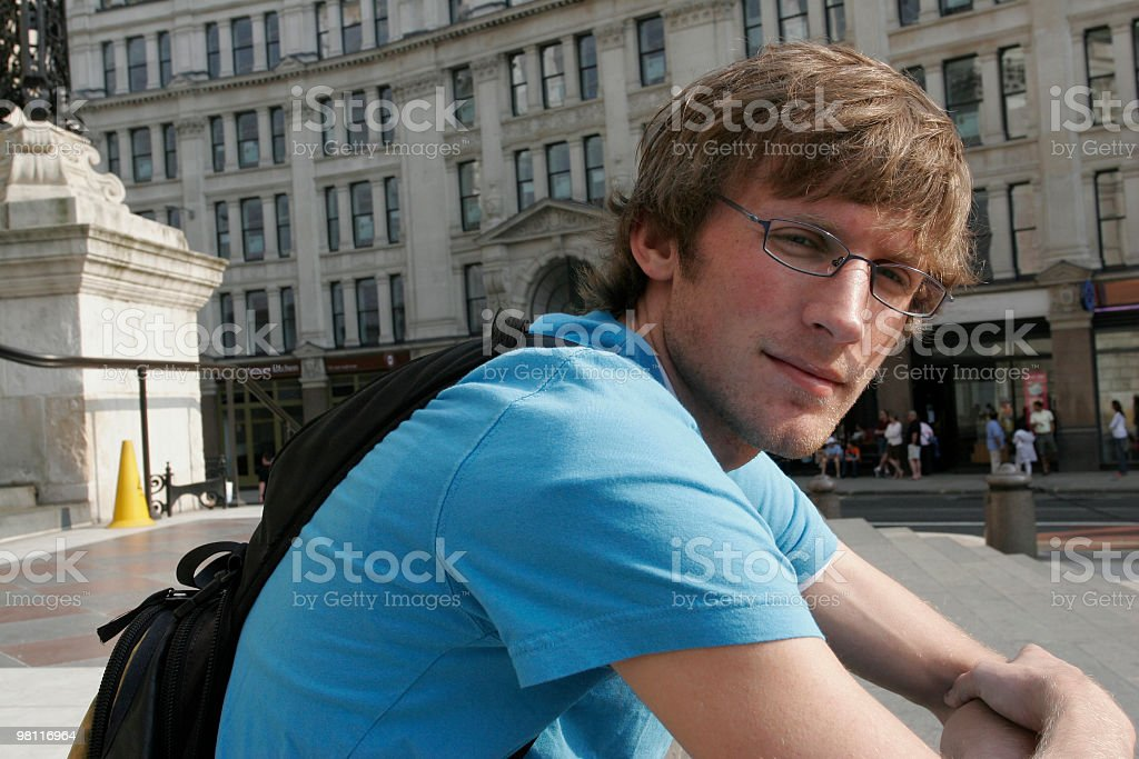 Casual male looking at camera royalty-free stock photo