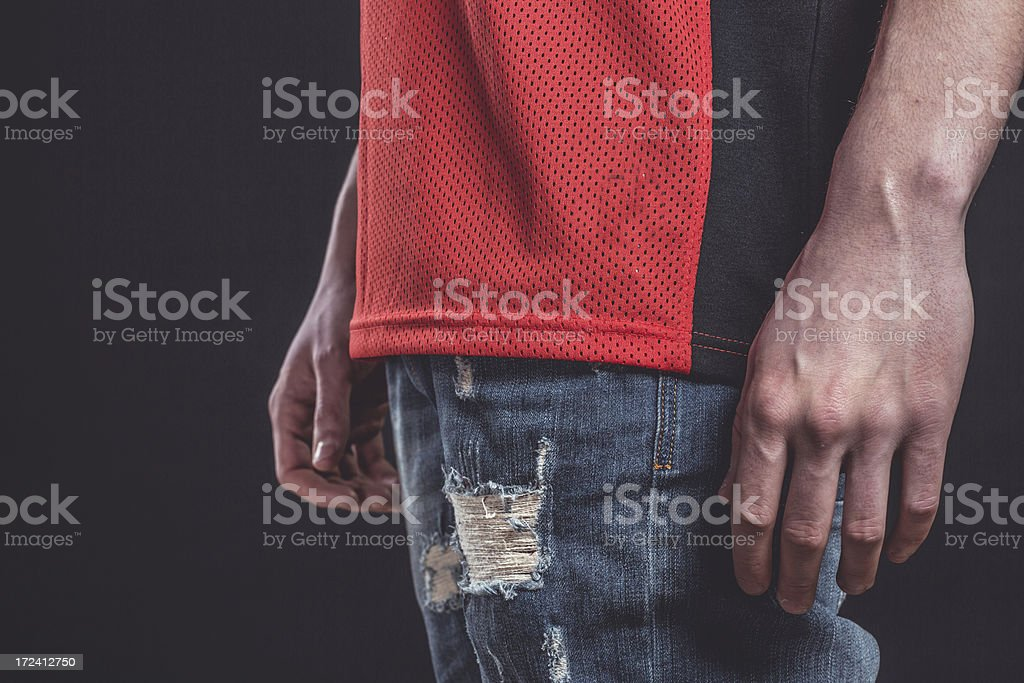 Casual male model. royalty-free stock photo