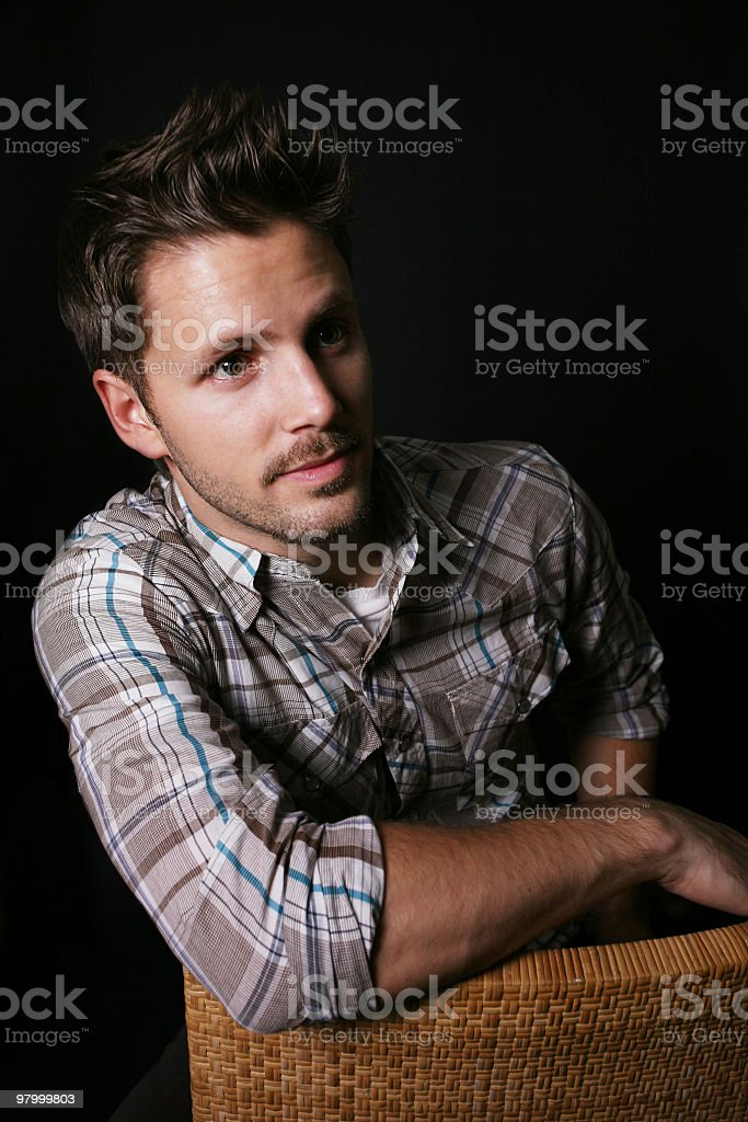 Casual male royalty free stockfoto