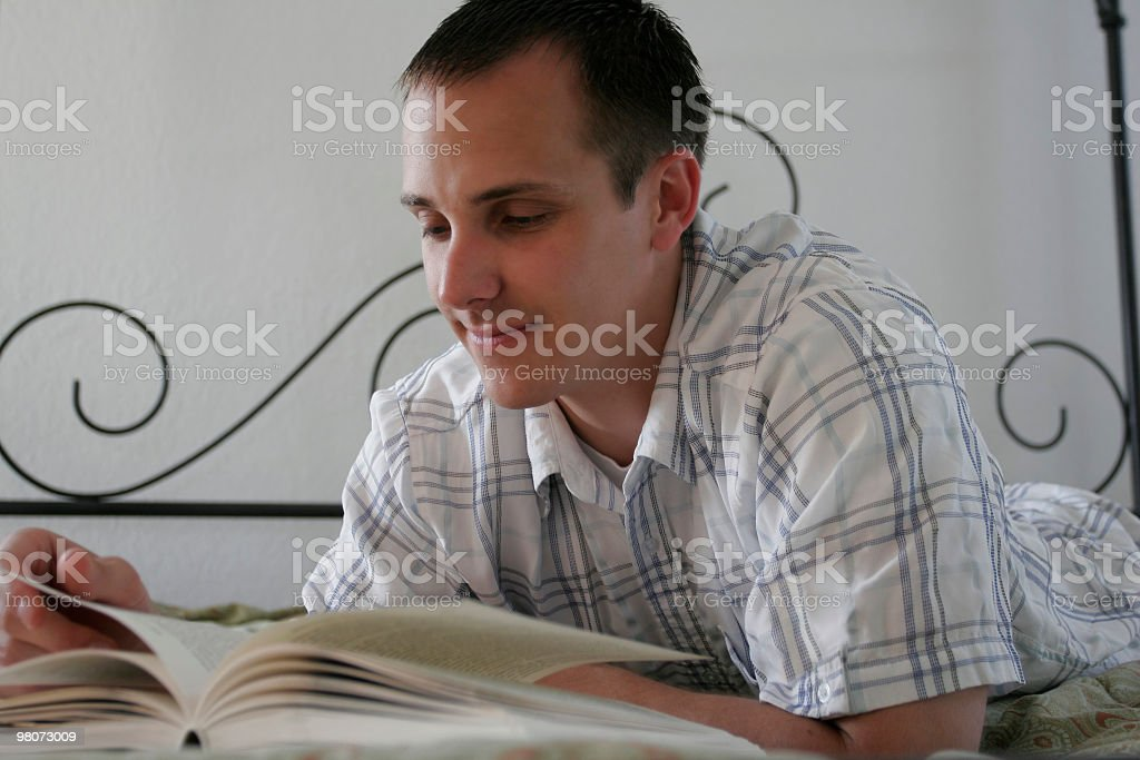 Casual male reading royalty-free stock photo