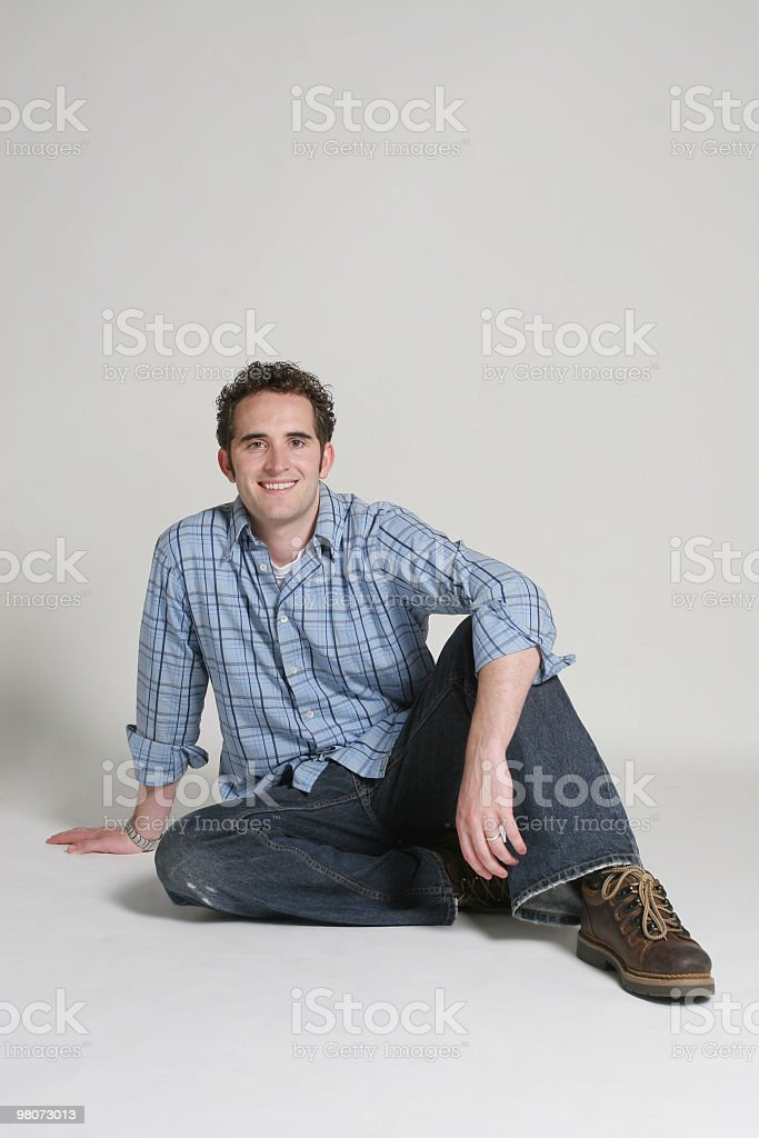 Casual male resting royalty-free stock photo