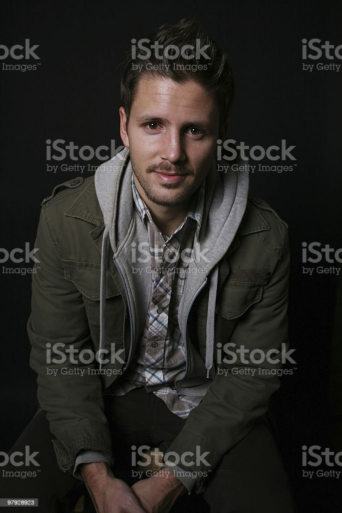 Casual male seated royalty-free stock photo