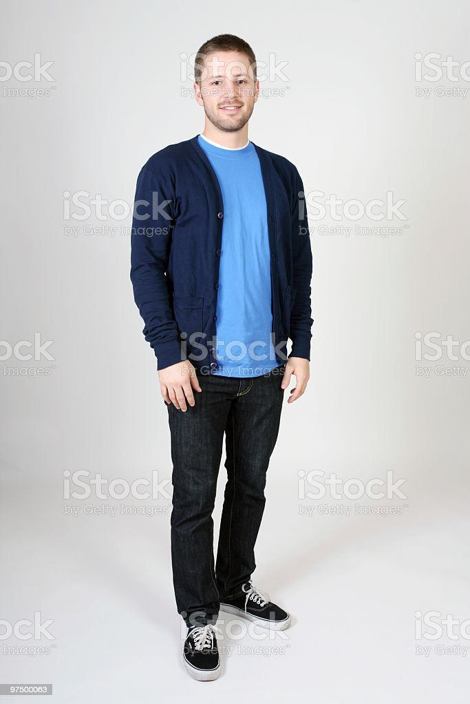 Casual male standing royalty-free stock photo