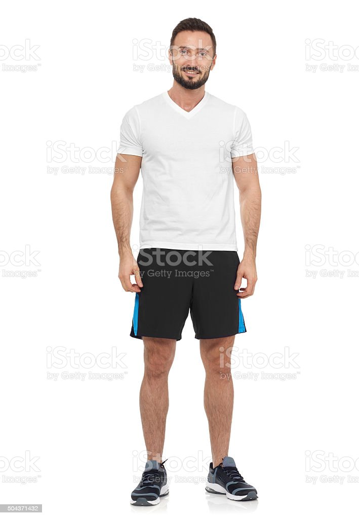 Casual man in sport clothing stock photo