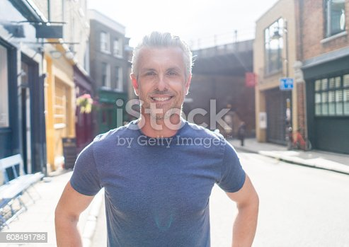 istock Casual man on the street 608491786