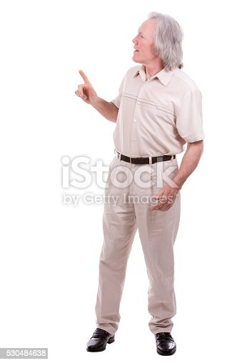 1045527172 istock photo casual man on white 530484638