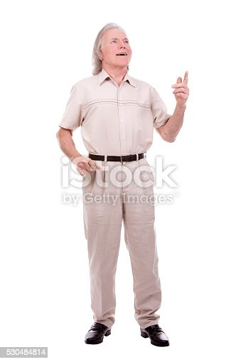 1045527172 istock photo casual man on white 530484814