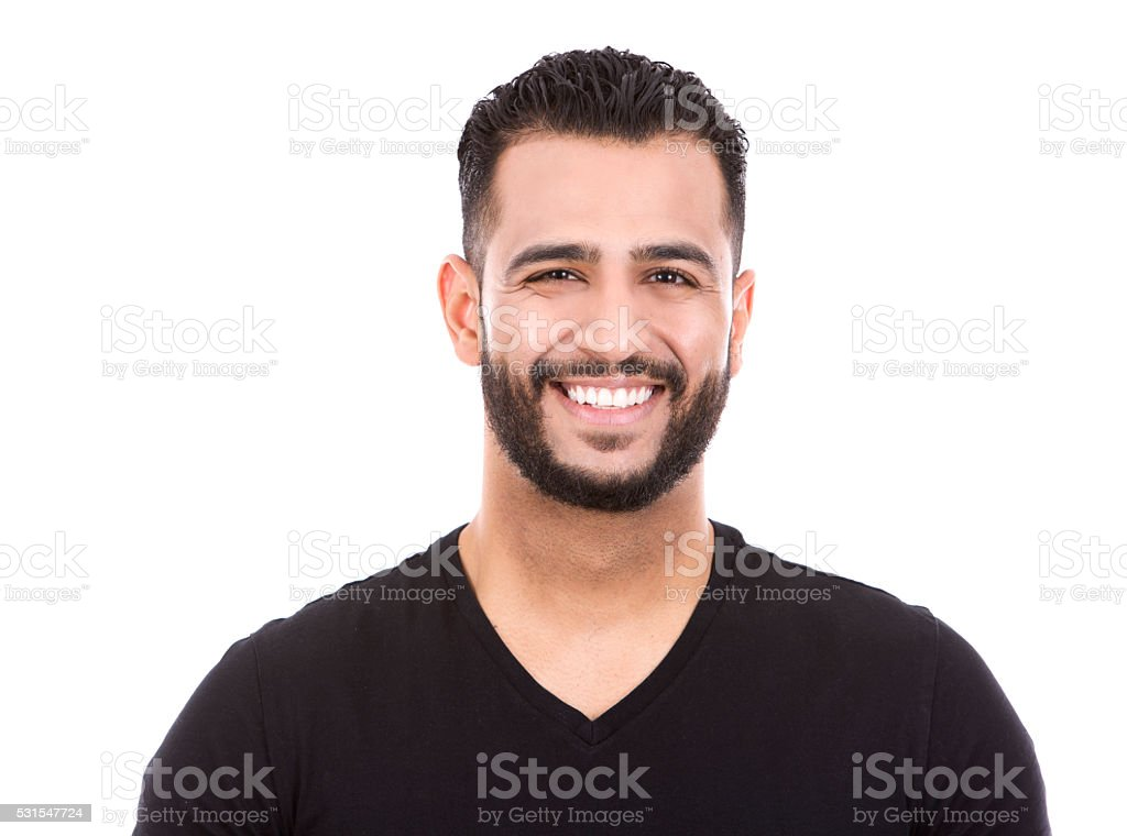 casual man on white stock photo
