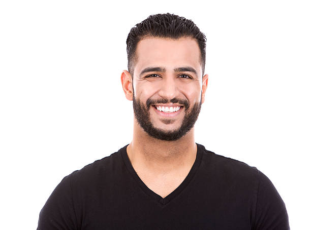 casual man on white - indian man stock photos and pictures