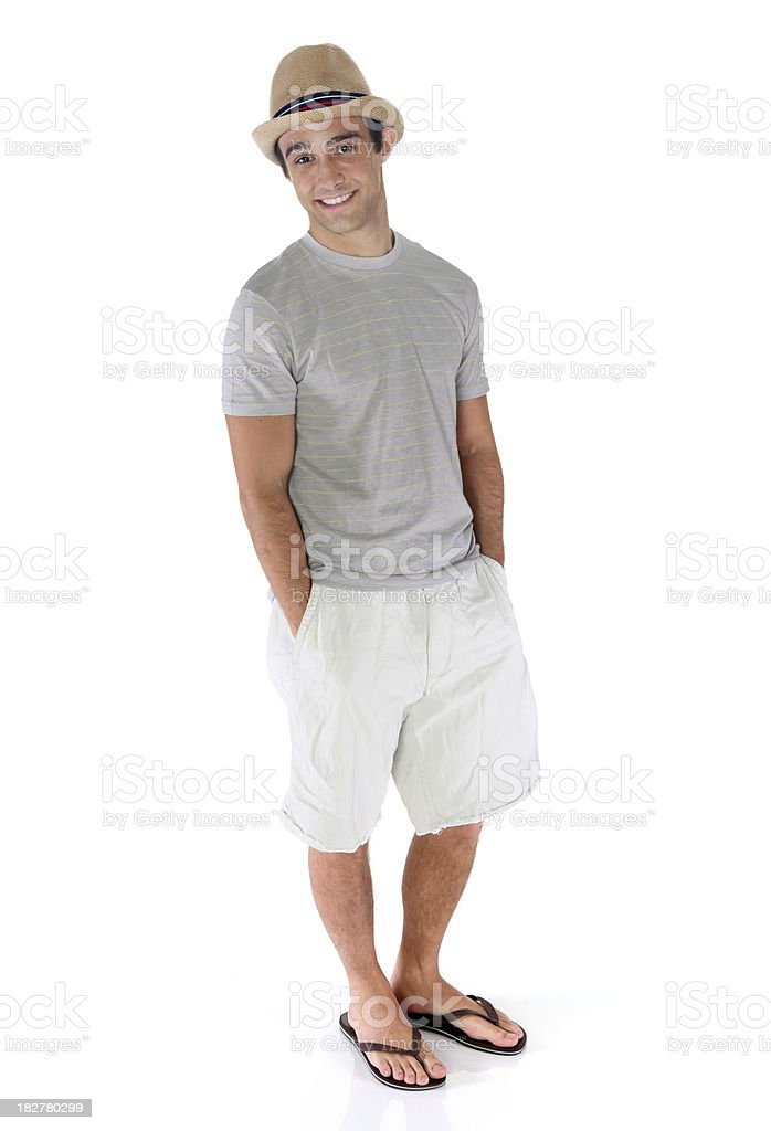 Casual Man Standing royalty-free stock photo