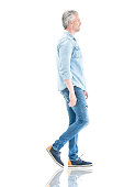 istock Casual man walking to the side 598089648