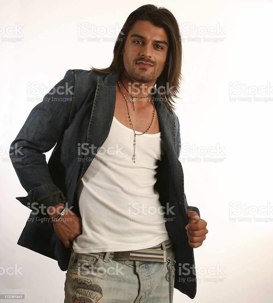 casual man with jacket royalty-free stock photo