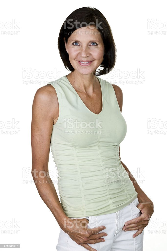 Casual mature woman royalty-free stock photo