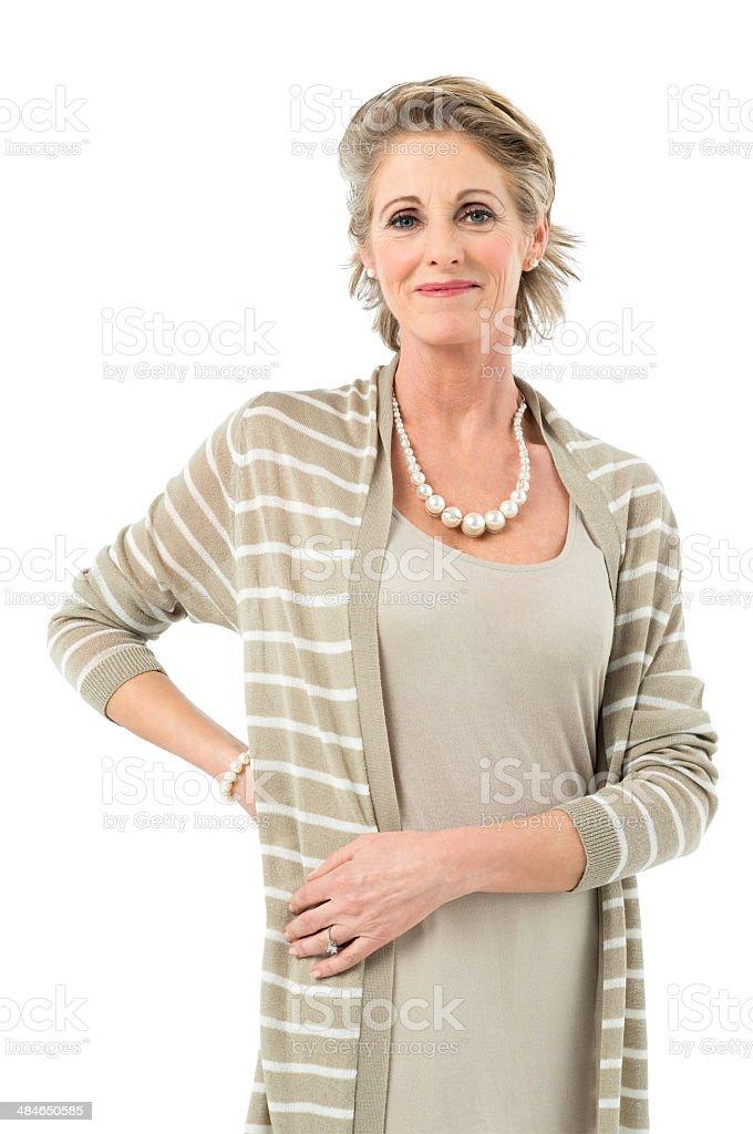 Casual Mature Woman stock photo