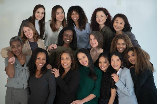 Casual Multi-Ethnic Businesswomen Team Portrait stock photo stock photo