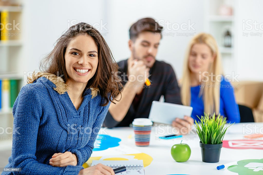 Casual people working in the office royalty-free stock photo