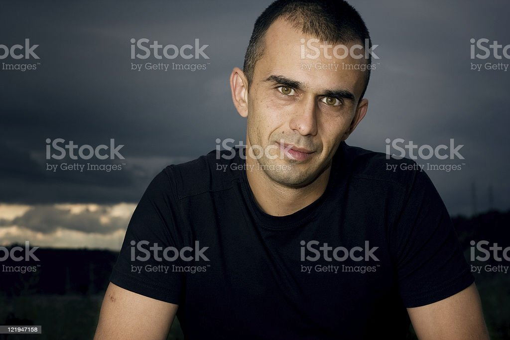 Casual portrait - series royalty-free stock photo
