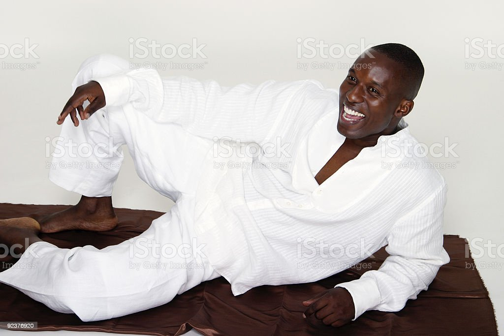 Casual Reclining Man royalty-free stock photo