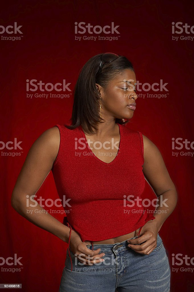 Casual Red 2 royalty-free stock photo