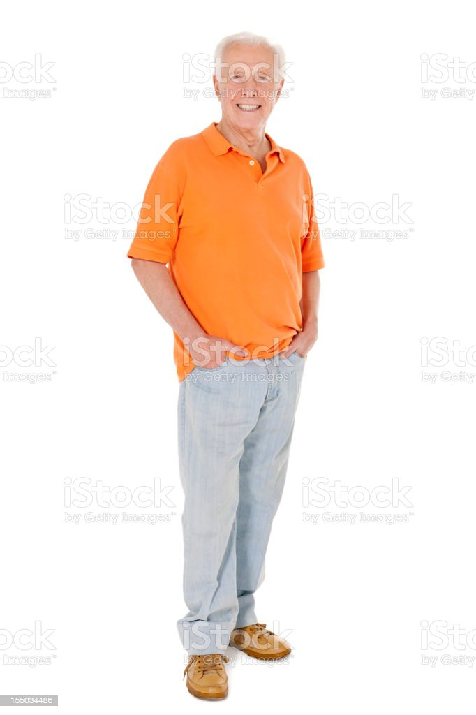 Casual Senior Man - Isolated stock photo
