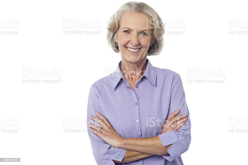 Casual senior smiling woman - Royalty-free Active Seniors Stock Photo