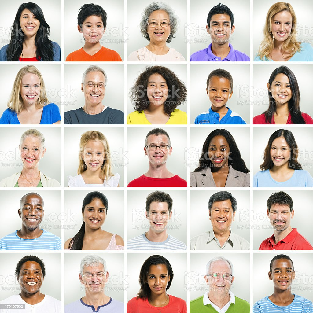 Casual smiling faces royalty-free stock photo