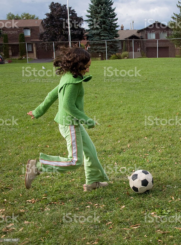 Casual Soccer Practice royalty-free stock photo