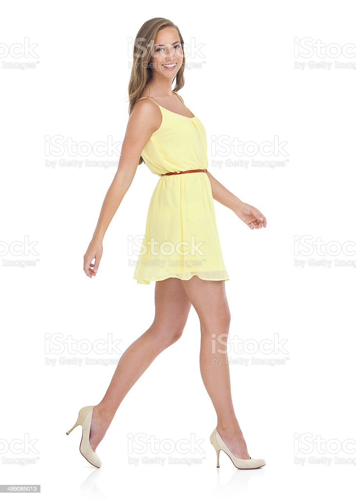 Casual strides stock photo