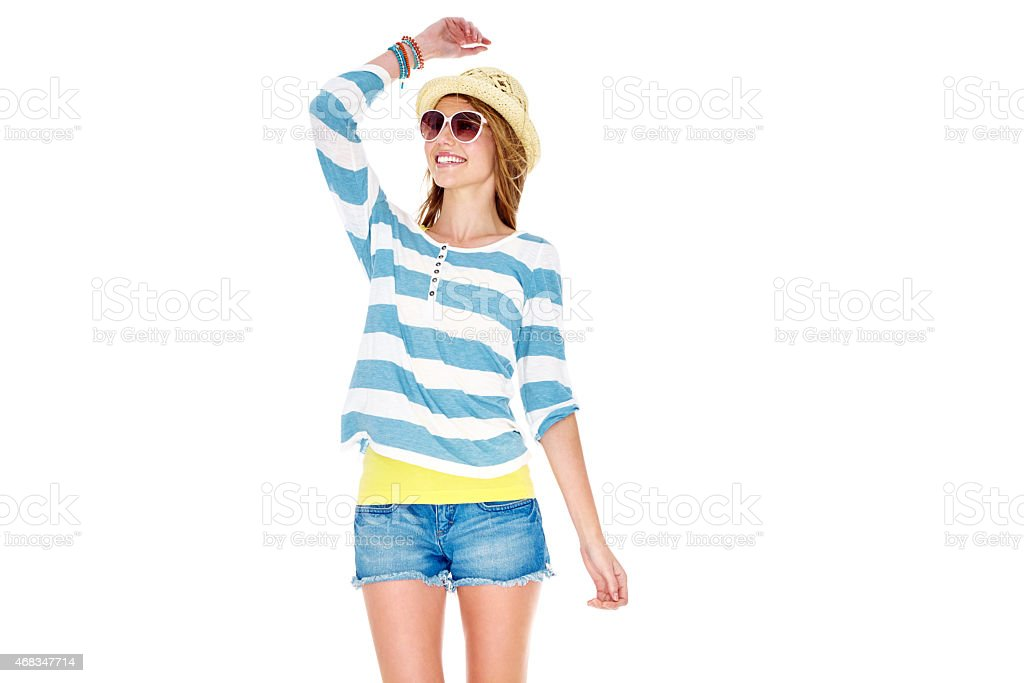 Casual summer style royalty-free stock photo