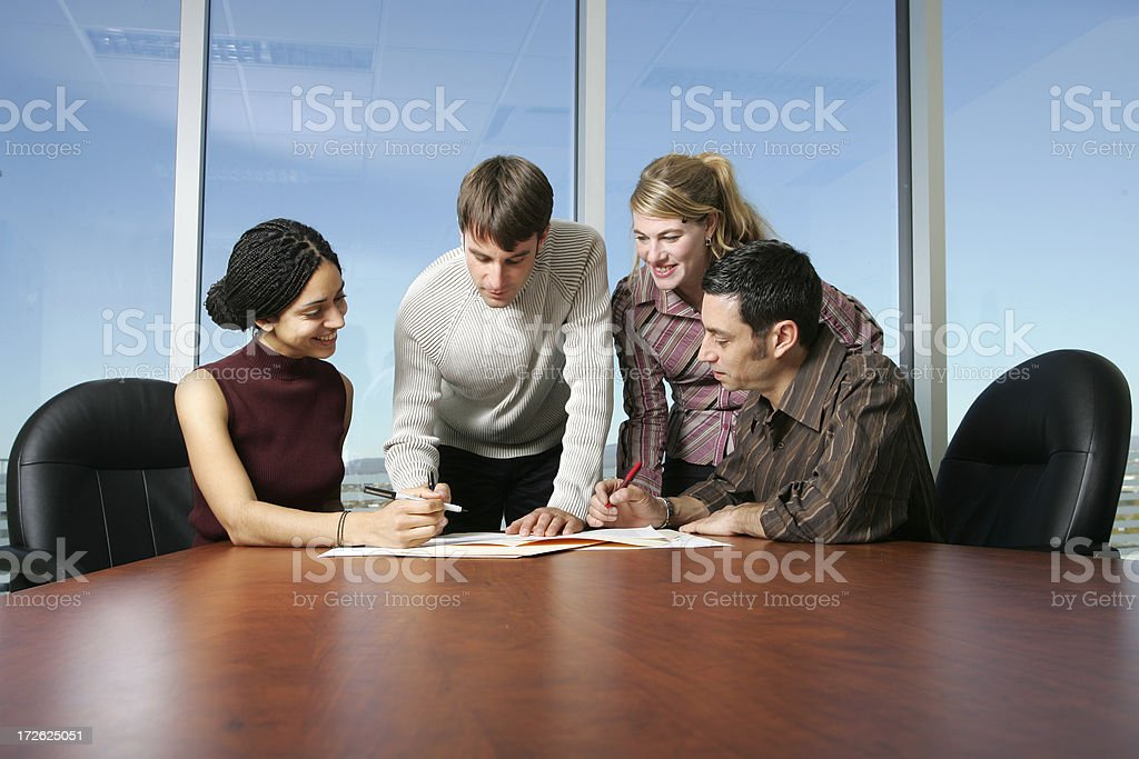Casual Team : Deal is Done II royalty-free stock photo