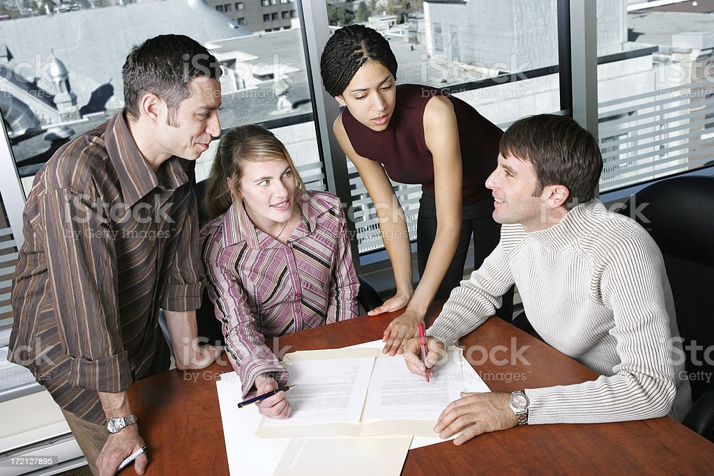 Casual Team : Meeting III royalty-free stock photo